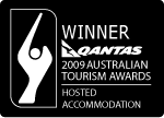 Qantas Tourism Awards 2009 Hosted Accomodation